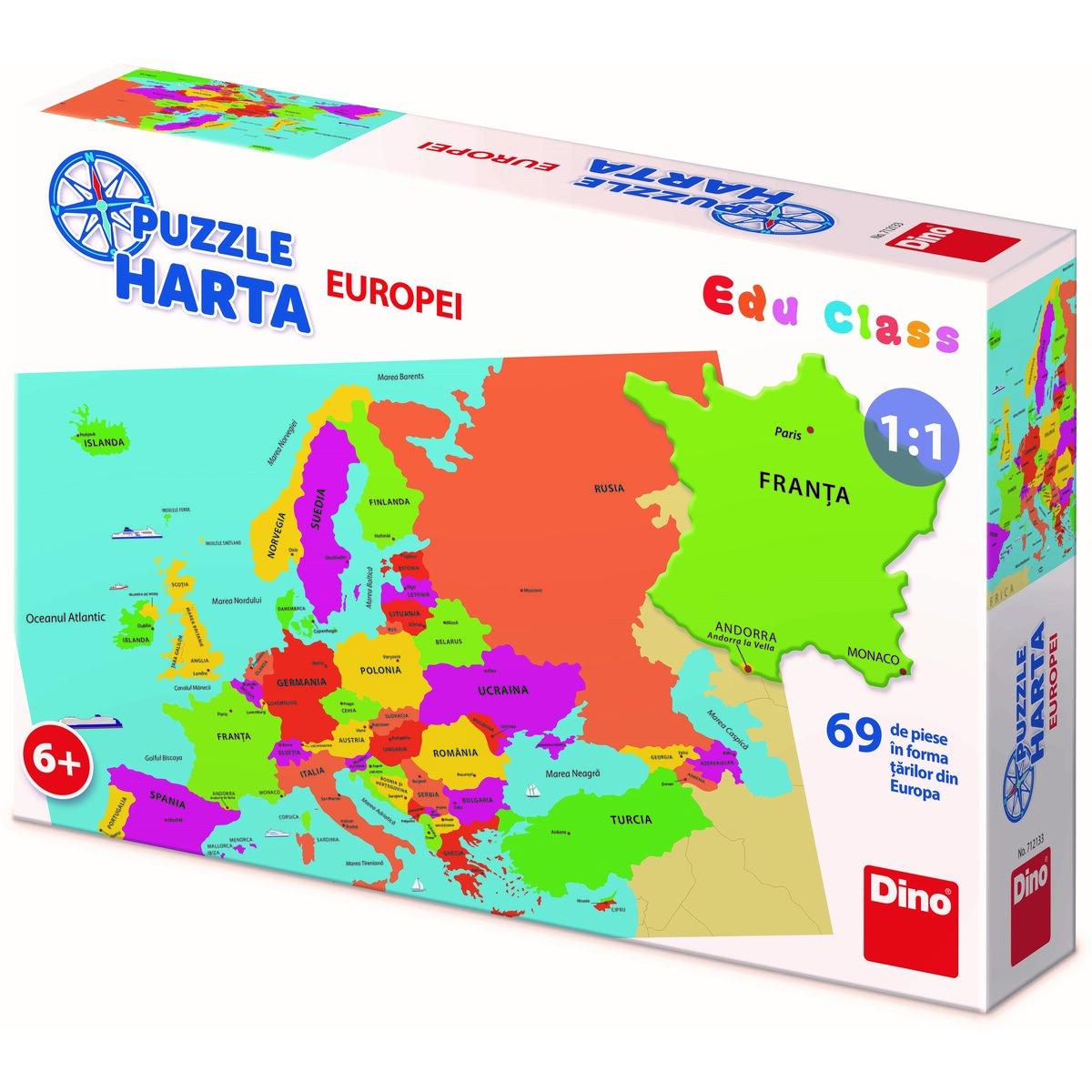 Harta Europei 69 piese